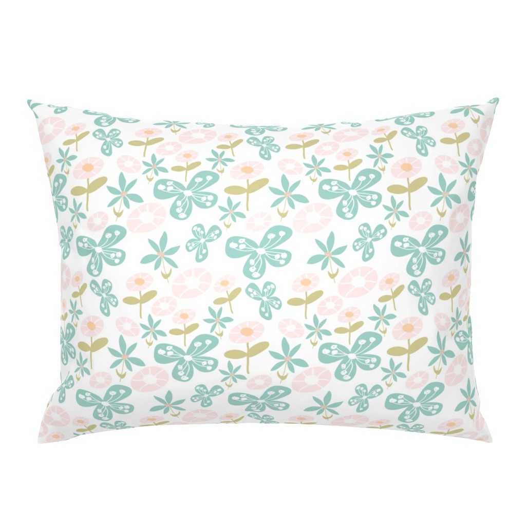 Campine Pillow Sham featuring Floral Bunch by studiojulieann