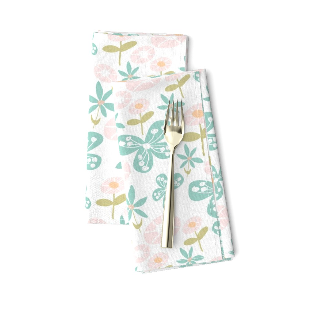 Amarela Dinner Napkins featuring Floral Bunch by studiojulieann
