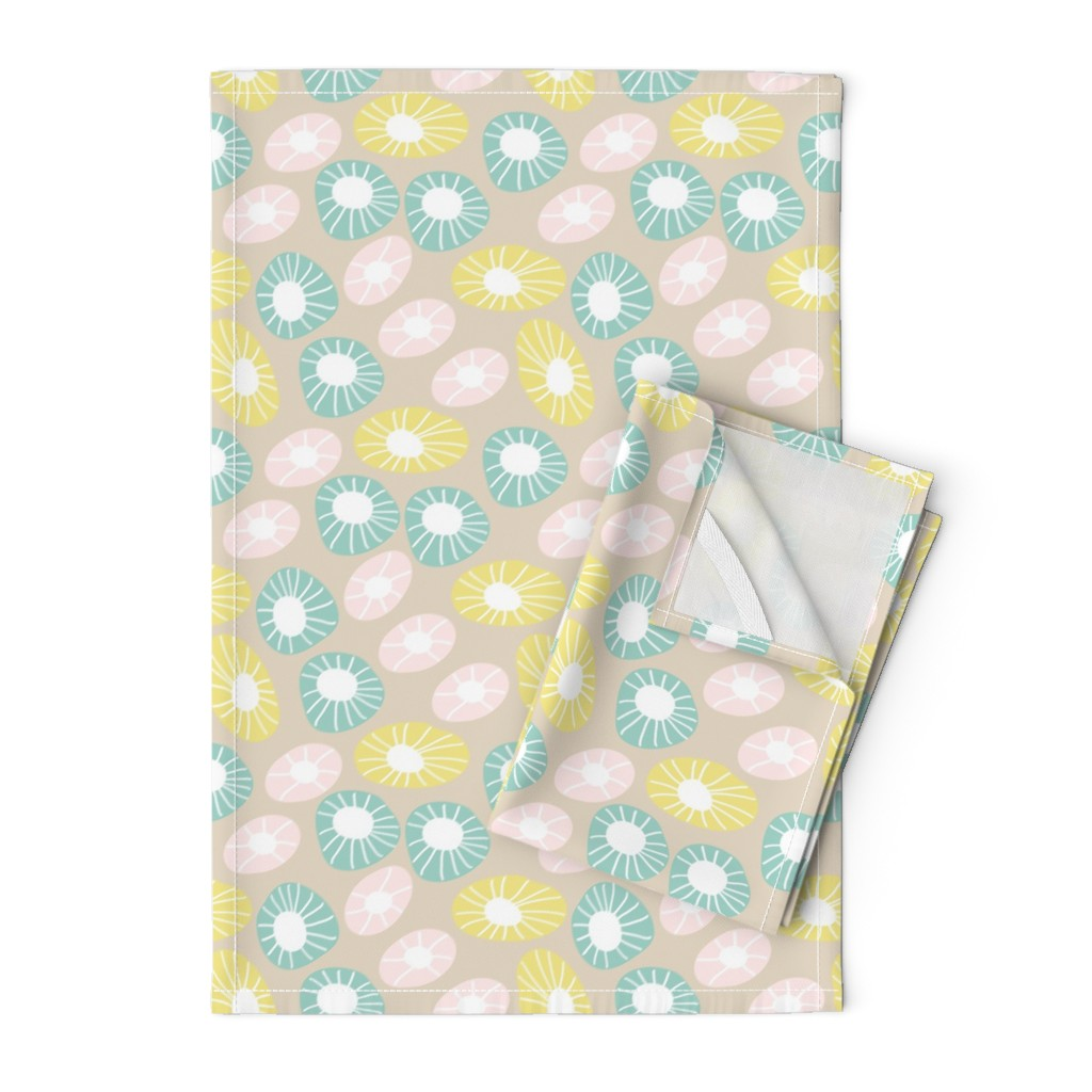Orpington Tea Towels featuring Round and Round by studiojulieann