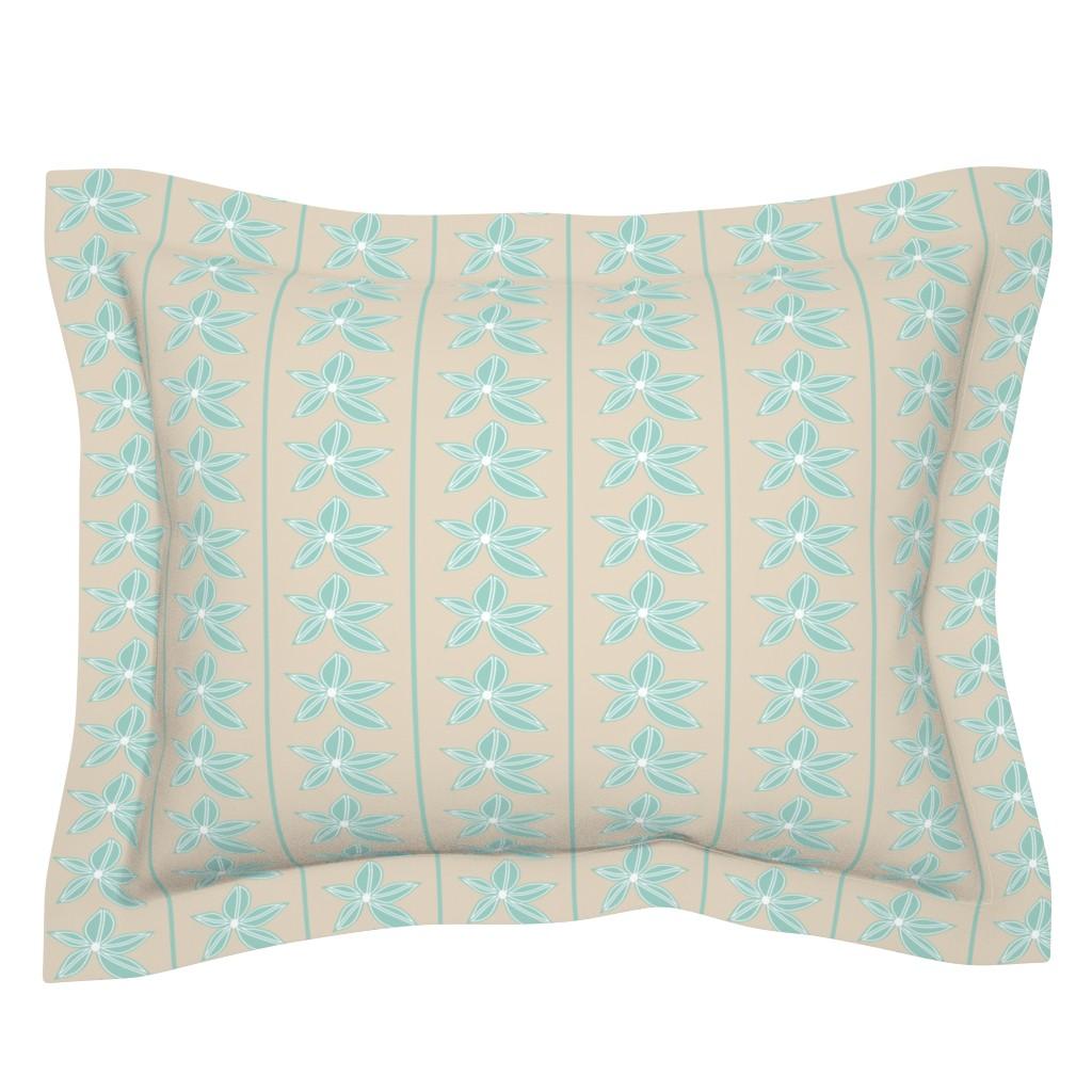 Sebright Pillow Sham featuring Delicate Stripe by studiojulieann