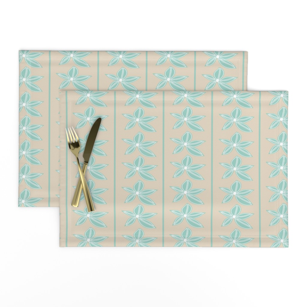 Lamona Cloth Placemats featuring Delicate Stripe by studiojulieann