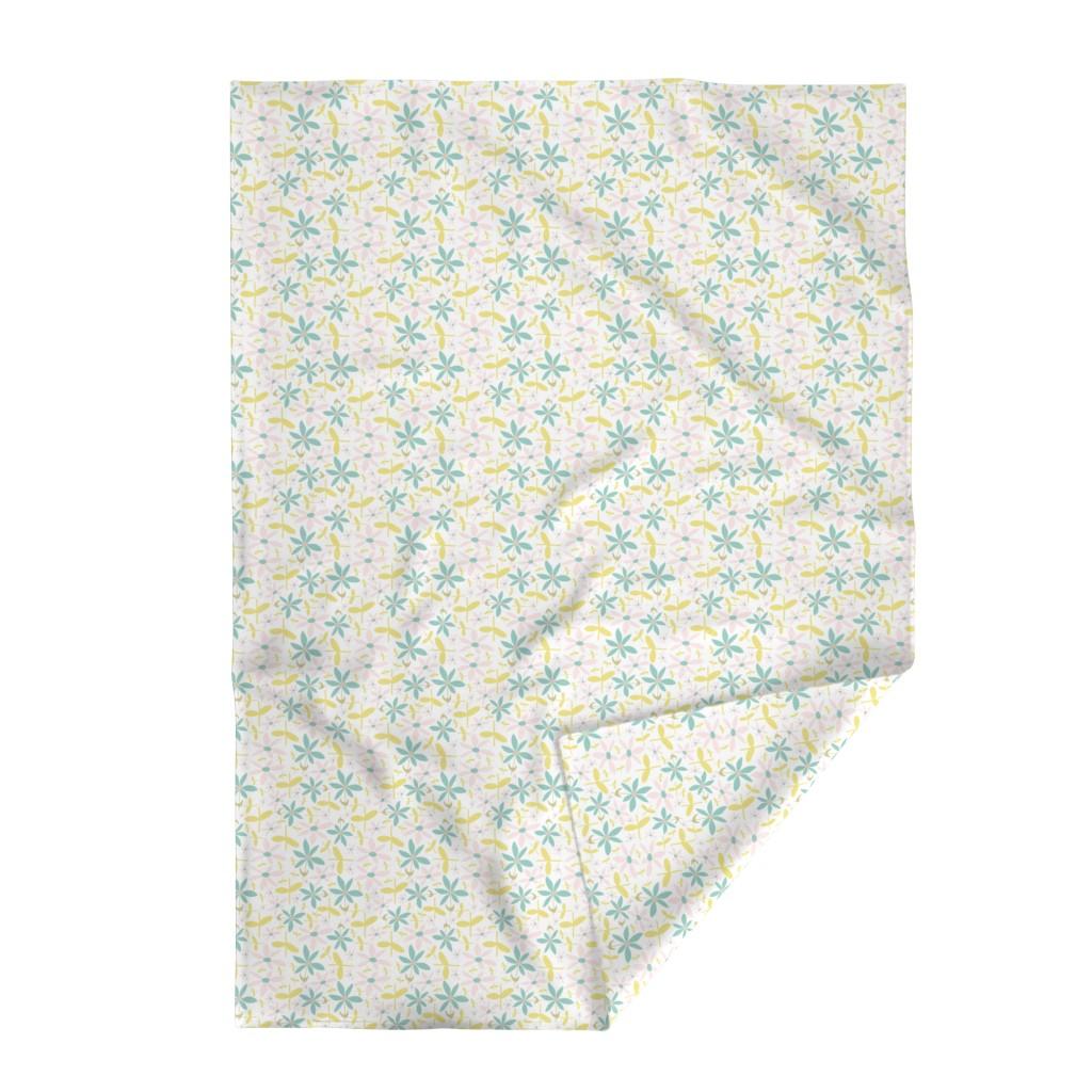 Lakenvelder Throw Blanket featuring Soft Floral Maze by studiojulieann