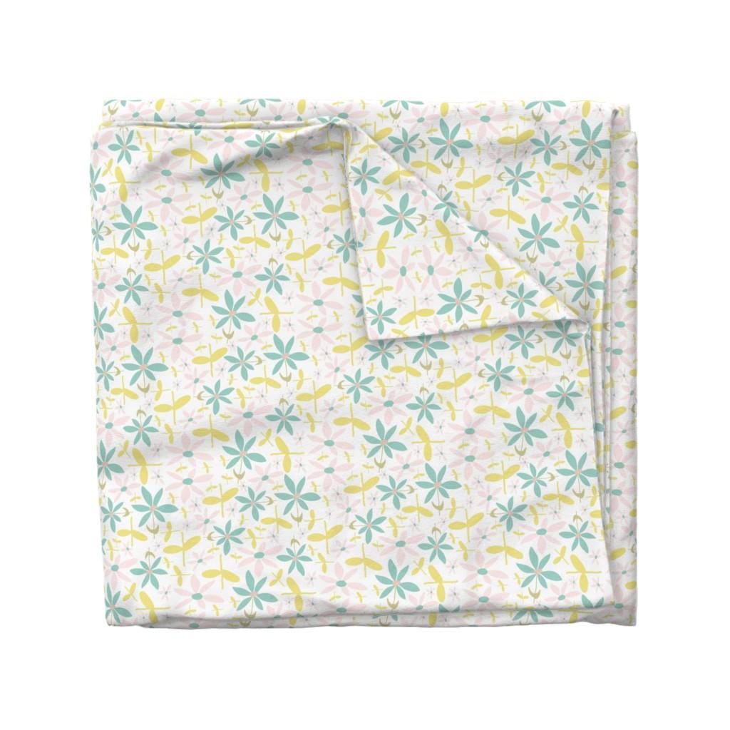 Wyandotte Duvet Cover featuring Soft Floral Maze by studiojulieann