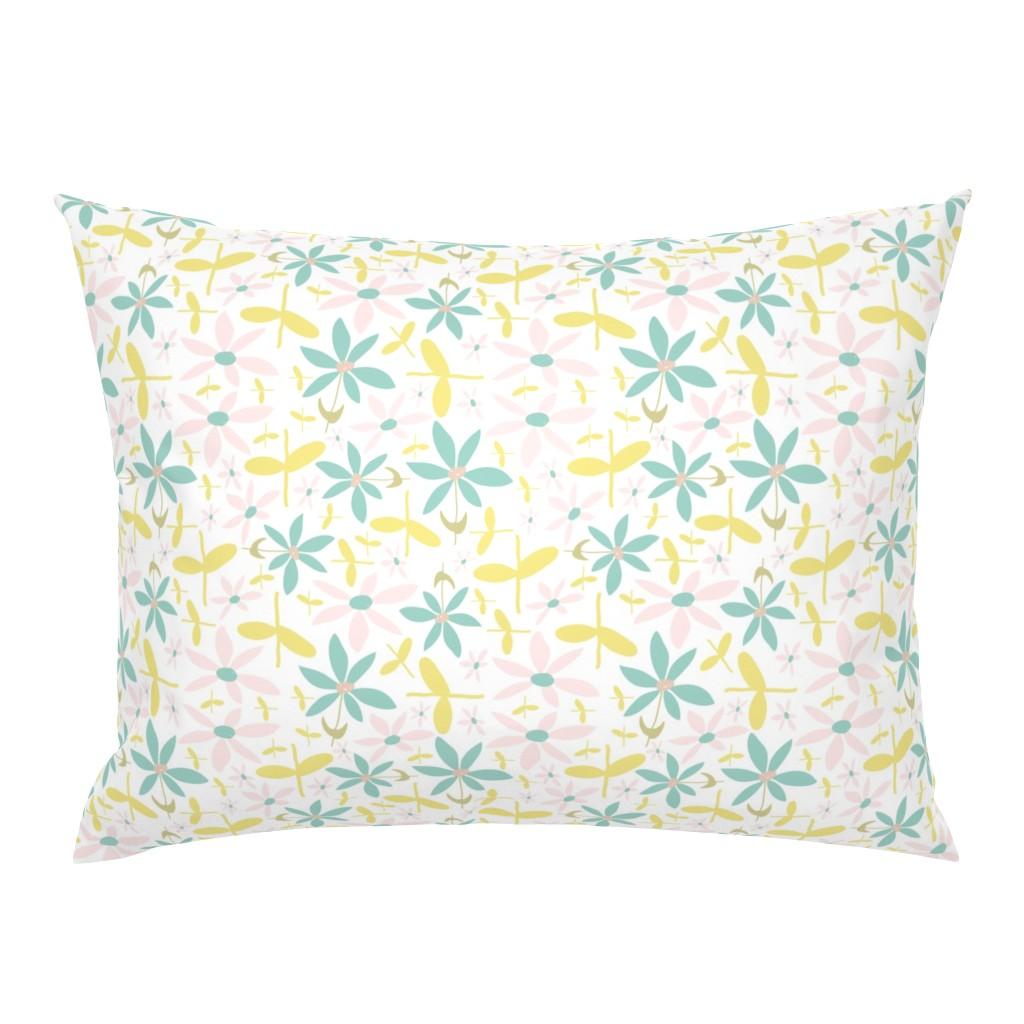 Campine Pillow Sham featuring Soft Floral Maze by studiojulieann