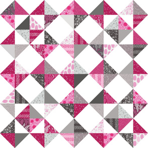 Trillian's Cheater Quilt - Pink & Greys