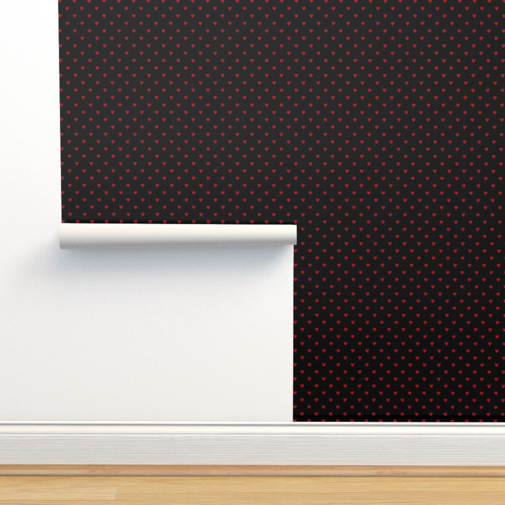 Isobar Durable Wallpaper featuring Dark Red Hearts on Black by mtothefifthpower
