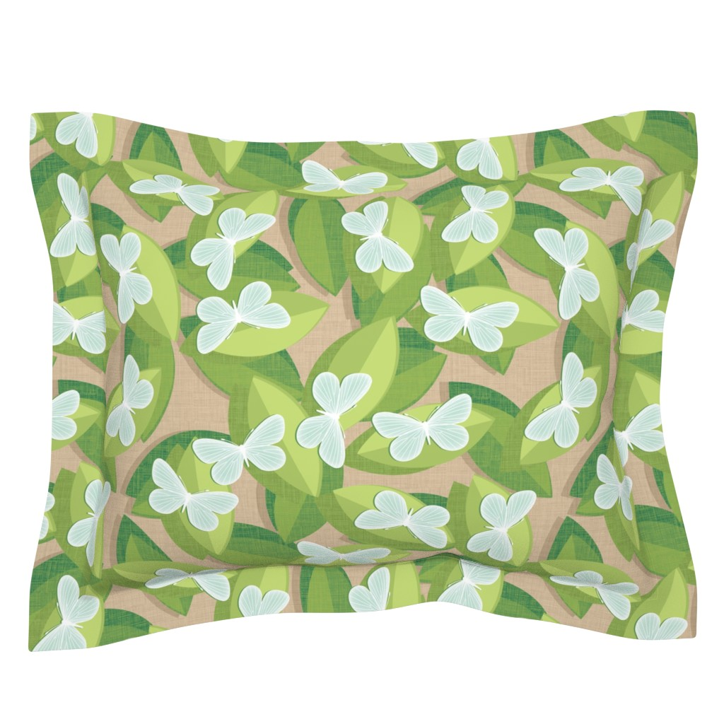 Sebright Pillow Sham featuring Wood White by spellstone