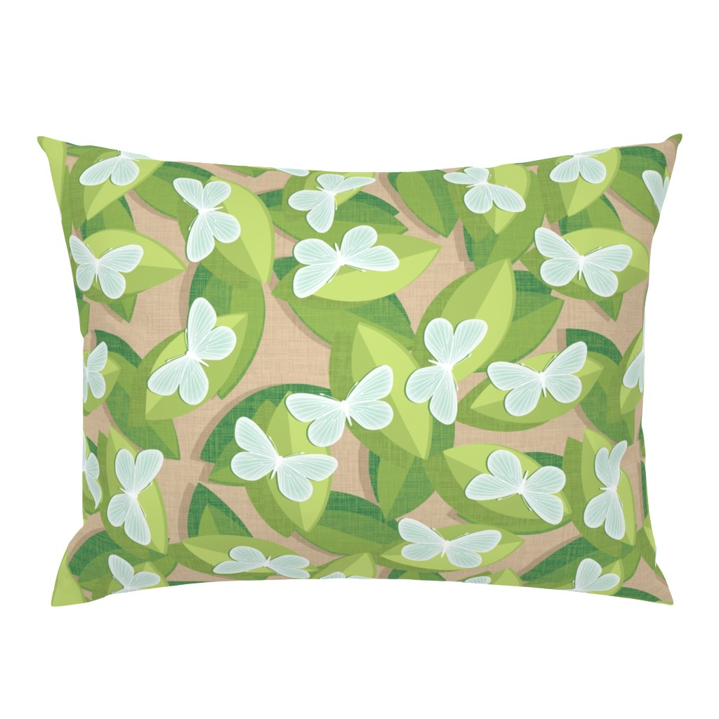 Campine Pillow Sham featuring Wood White by spellstone