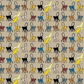 16-11J Monkey Banana Fruit Africa Safari Zodiac_Miss Chiff Designs