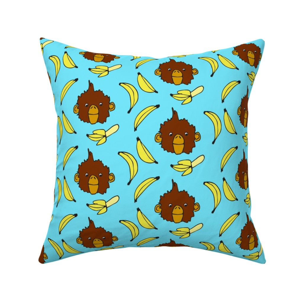 Catalan Throw Pillow featuring Bananas for Monkeys by eileenmckenna