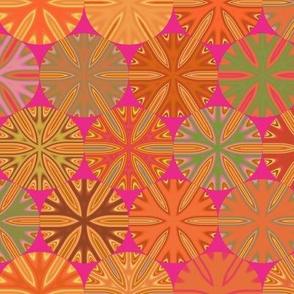 Citrus Slices Geometric  on Pink large