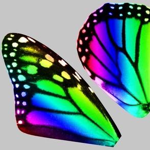 Medium Rainbow Butterfly Costume Wings DIY