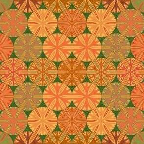 Citrus Slices Geometric on Green small