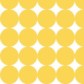 Huge Polka Dots - Bright Yellow by Friztin