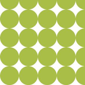Huge Polka Dots - Green Grass by Friztin