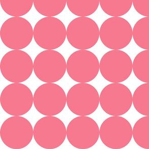 Huge Polka Dots - Hot Pink by Friztin