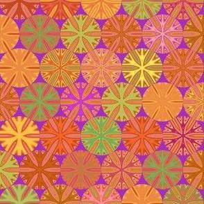 Citrus Slices Geometric in Purple small