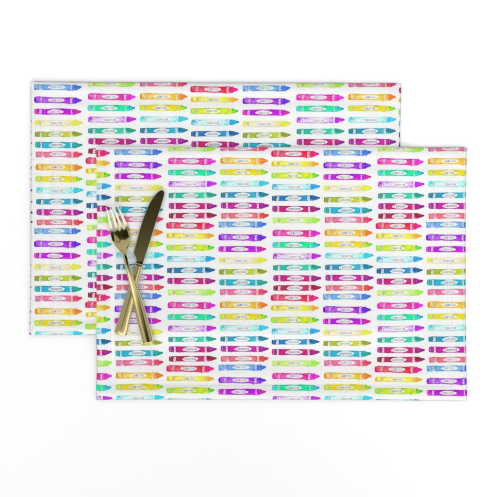 Lamona Cloth Placemats featuring crayons by erinanne