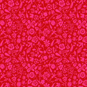 Pink and Red Garden