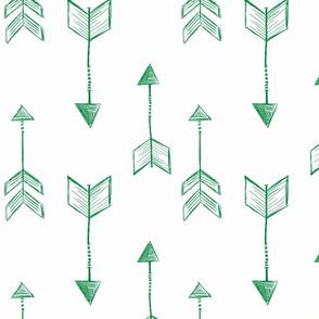 Arrow Sketch Green
