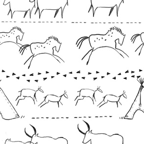 Cave Drawings in Black and White