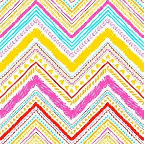 Aztec zigzag in vibrant colors