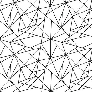 Geo Lines - Black and White