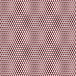 1:6 Argyle-Grey, White, Cherry Red, Baby Pink