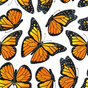 Monarch Butterfly Watercolor Pattern