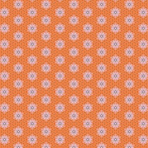 Orange Boho Flowers _CNY16 by Friztin