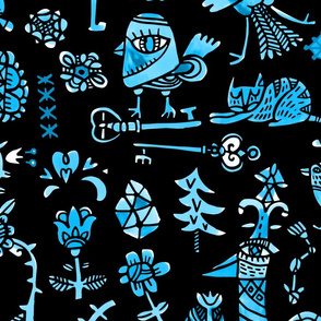 Lost keys blue