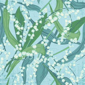 Scattered Lily of The Valley - Pastel