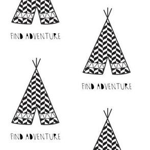 find adventure teepee