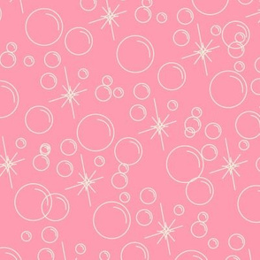 Bubbles- Pink Background