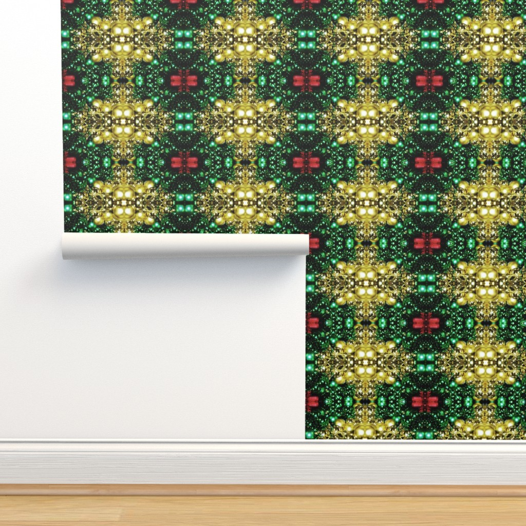 Isobar Durable Wallpaper featuring Holiday Ornaments by snaphappyscientist