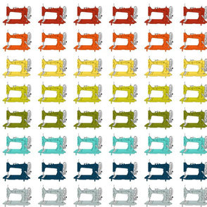 Sew Vintage Sewing Machines Rainbow