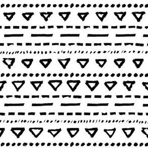 Ethnos Triangle Stripes – black white