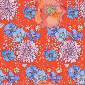 Floral no 6 Fiesta Orange