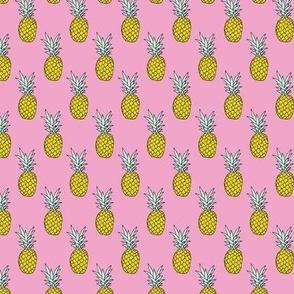 Hot summer pineapple pink tropical summer fruit trend XS