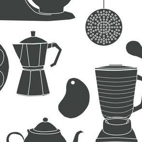 kitchen gadgets (black & white)
