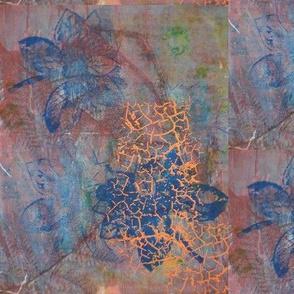 Blue Haze Flower and Orange Light