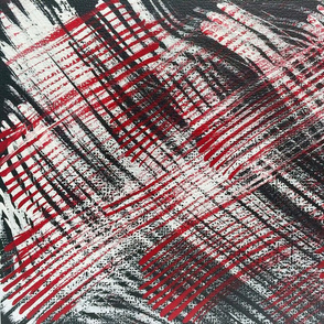 Red Black Stripes Painting