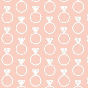 Diamond Ring Peach White