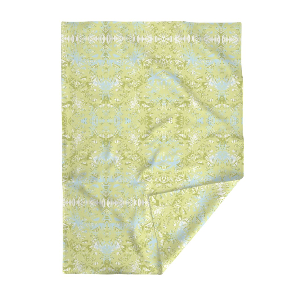 Lakenvelder Throw Blanket featuring Tropical_plant in lime by elainecollinsdesigns