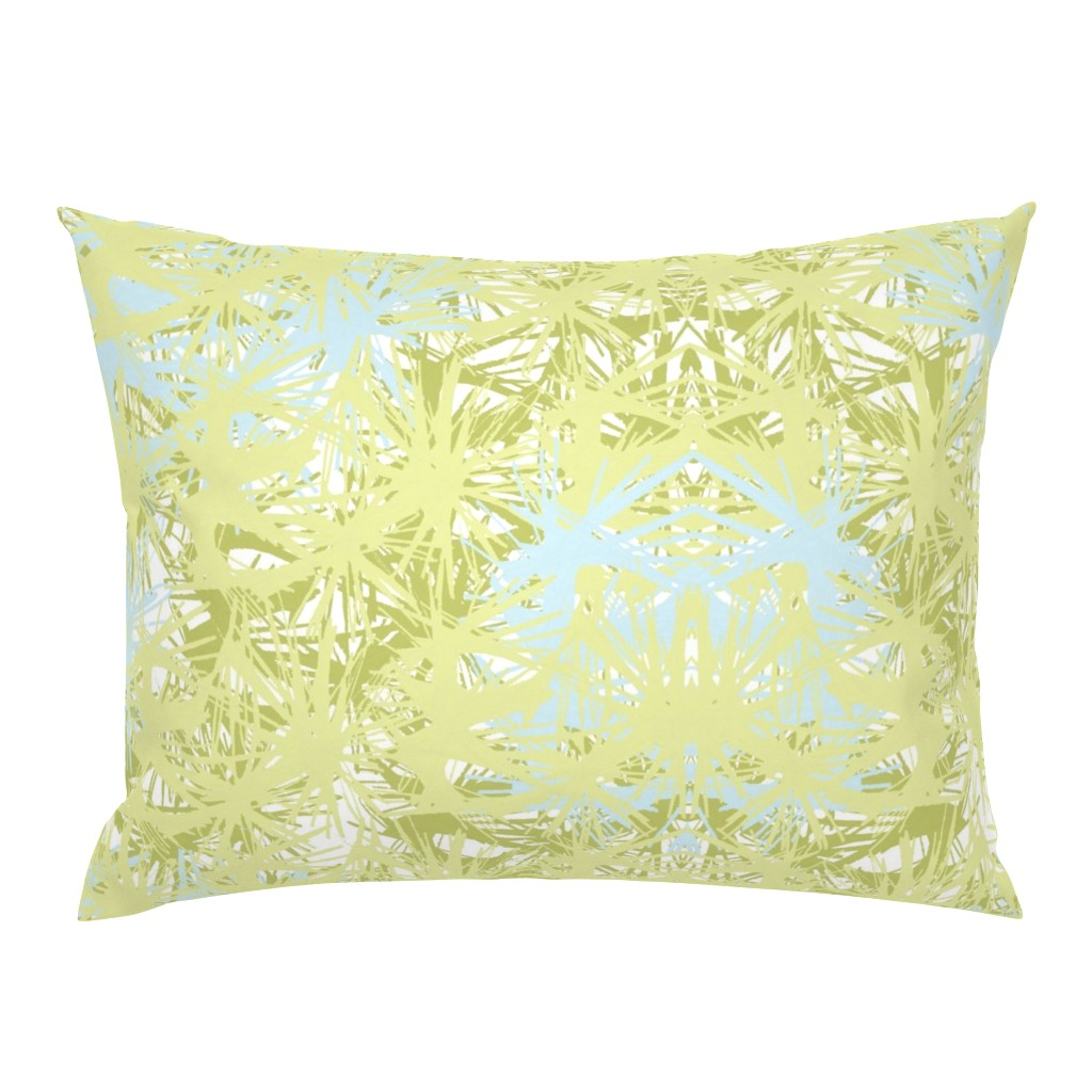 Campine Pillow Sham featuring Tropical_plant in lime by elainecollinsdesigns