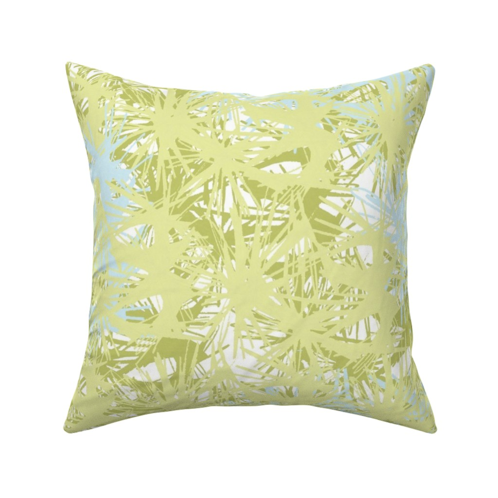 Catalan Throw Pillow featuring Tropical_plant in lime by elainecollinsdesigns