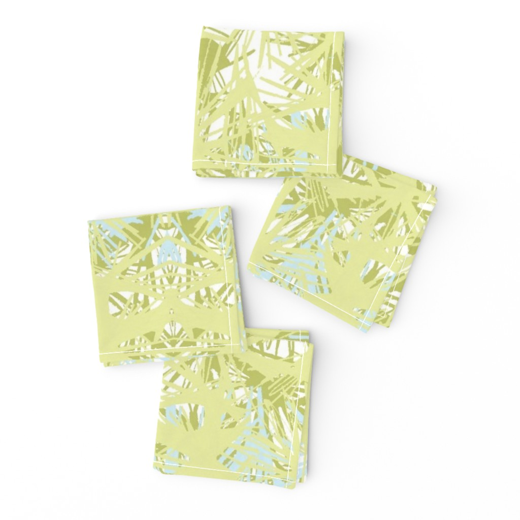 Frizzle Cocktail Napkins featuring Tropical_plant in lime by elainecollinsdesigns
