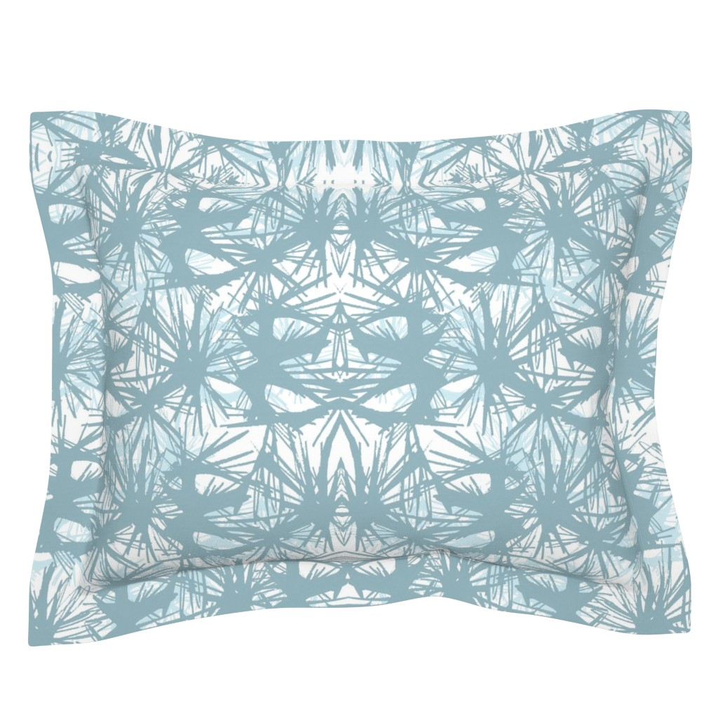 Sebright Pillow Sham featuring tropical_Teal by elainecollinsdesigns