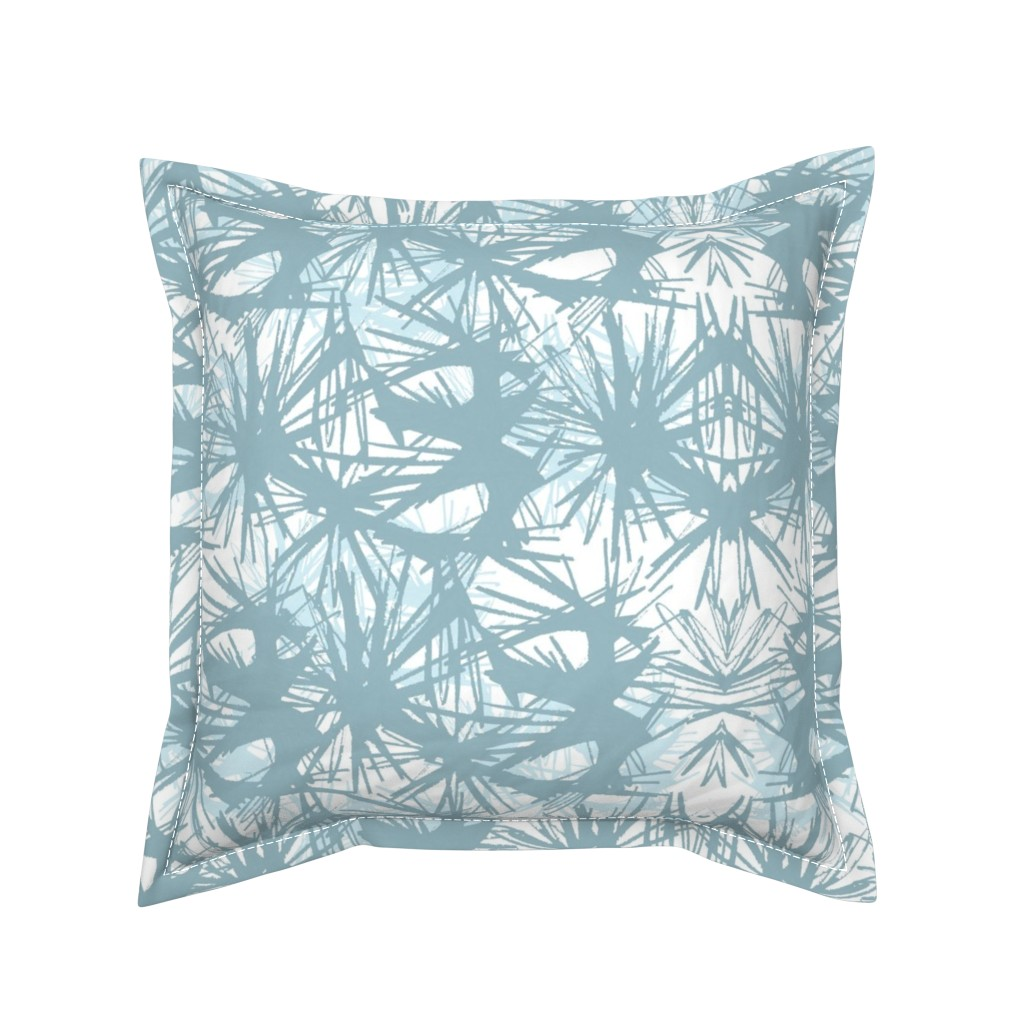 Serama Throw Pillow featuring tropical_Teal by elainecollinsdesigns