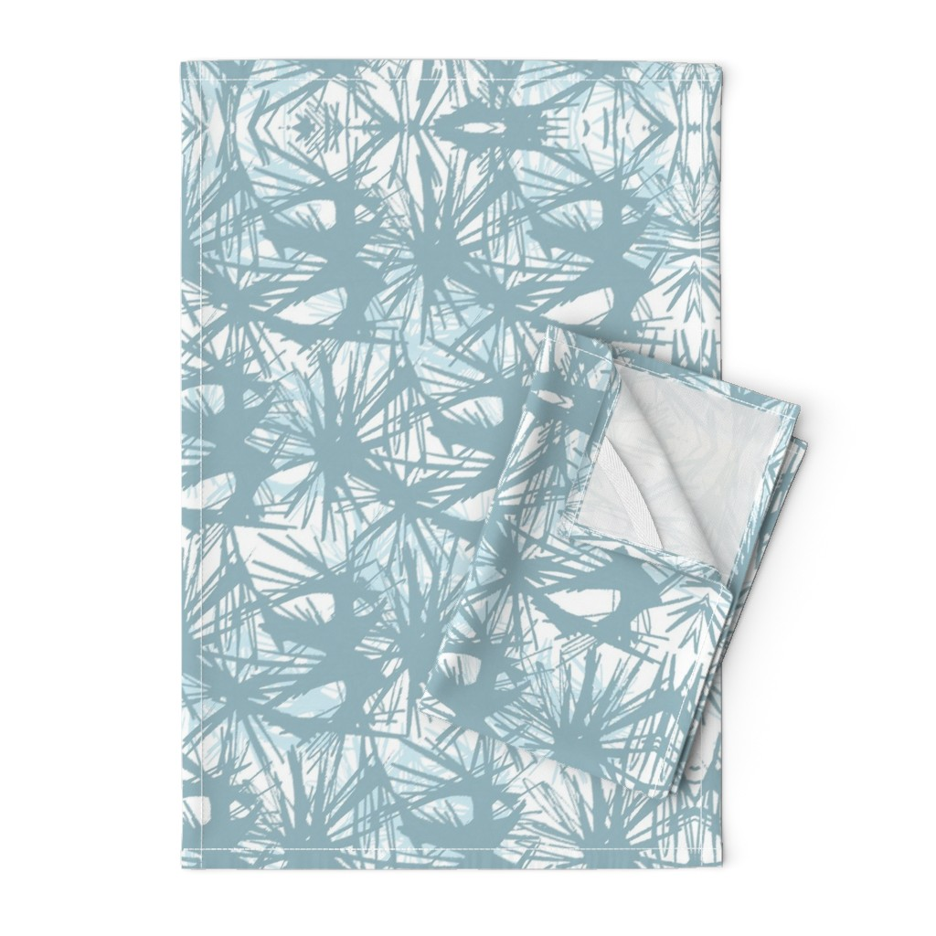 Orpington Tea Towels featuring tropical_Teal by elainecollinsdesigns